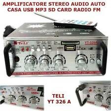 AMPLIFICATORE AUDIO X CASA E AUTO CON LETTORE SD E USB X PC DVD NOTEBOOK DVX MP3