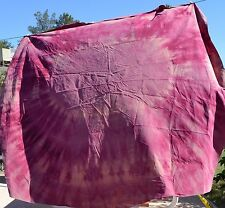 Tie Dye Square Rounded Edge Table Cloth 65 x 64 Red Eye Handmade Free Shipping