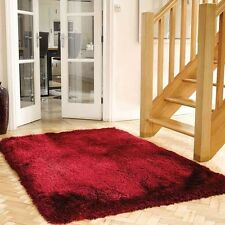 Mega Thick Shaggy Rugs In Raspberry Red - 7cm Deep Plush Pile 120x170cm
