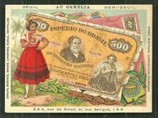 Brazil Brasil Banknote Money Woman Costume Coat of Arms  1899