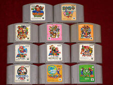 Nintendo 64 N64 SUPER SMASH MARIO KART PARTY 2 3 GOLF TENNIS YOSHI DIDDY KONG
