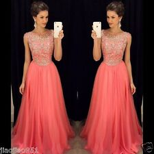 Long Chiffon Wedding Formal Evening Party Bridesmaid Ball Gown Prom Dress Custom
