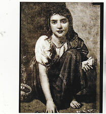 "*Postcard-""Fortune Teller Girl with Deck of Cards"""