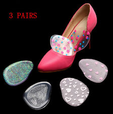 3 Pair High Heel Silicone Gel Cushion Insoles Front Pad Feet Shoe Foot Care