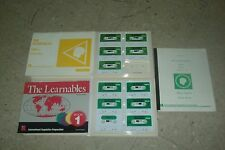 The Learnables SPANISH Book 1+Book 2 SETS Books+Audio Tapes Harris Winitz