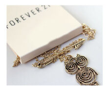F21 Forever21 Owl and Arrow Necklace Set - ANTIQUE GOLD