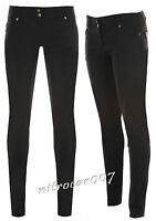 GIRLS BLACK SUPER SKINNY SCHOOL TROUSERS SIZES 6-16 SEXY MISS SEXIES