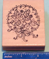 BRIDE'S BOUQUET rubber stamp by Hook's Lines & Sinkers