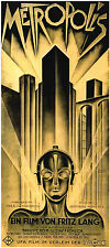 Fritz Lang 'Metropolis' 1927 Classic Silent Movie 12x5 inch Poster