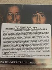 "TONY BENNETT & LADY GAGA""IT DONT MEAN A THING IF IT AINT .. Uk 1 Track Cd Promo"
