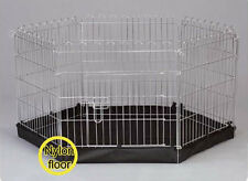 Metal Puppy Play Pen Dog Run  6 sided dog  puppy Pen with Base 40076