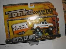 NEW 2015 Tonka Metal Diecast Bodies HITCH 'EM UPS PICK-UP & HORSE TRAILER