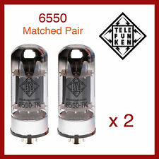 Telefunken Black Diamond 6550 Power Vacuum Tube - Matched Pair - 2 Pieces