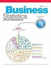 Business Statistics : A Decision Making Approach by Patrick W. Shannon,...