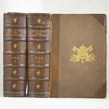1866 ANTIQUE ROMAN EMPIRE POPES SAINTS MARTYR HOLY WAR CRUSADE GOD BIBLE LEATHER