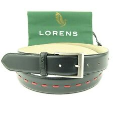 "Lorens ""Jiro""  Men's Classic Dress Leather Belt, Size 32-46"