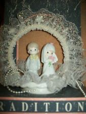 NIB VINTAGE TRADITIONS PRECIOUS MOMENTS WEDDING CAKE TOPPER