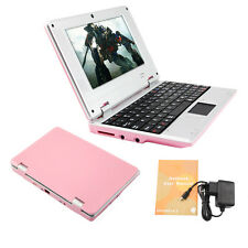 "BRAND NEW 7"" NETBOOK MINI LAPTOP WIFI ANDROID 8GB NOTEBOOK PC PINK GIFT UK STOCK"