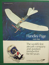 6/1969 PUB HANDLEY PAGE 60 YEARS AIRCRAFT COMPANY CASQUE HELMET AEROPLANE ADVERT