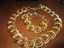 "AVON*VINTAGE*BOLD LINKS NECKLACE 18 1/2""/20 1/2""&BRACELET 7 1/2""/9 1/2""NEW*1991*"