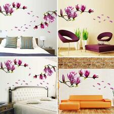 Removable DIY Magnolia Flower Wall Decal Vinyl Sticker Mural Art Room Home Decor