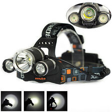 BORUIT XML T6 LED 13000LM Rechargeable Headlamp Linterna Faro Antorcha Headlight