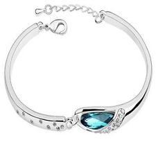 Caratcube Beautiful Crystal Blue Austrian Crystal Charming Bracelet for Women