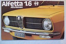 Prospekt Alfa Romeo Alfetta 1,6, 2.1975, 8 Seiten, folder