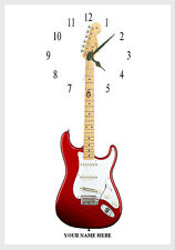 Guitar  Wall clock  Personalised free