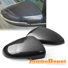 Real Carbon Fiber Side Mirror Covers Trim For 09-13 VW Volkswagen Golf MK6 GTI