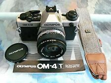 OLYMPUS OM-4T CAMERA WITH 50MM F1.8 LENS *35MM MANUAL SLR CAMERA *BEAUTIFUL