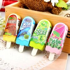 Fd3865 Cute Ice Cream Popsicle Eraser Rubber Pencil Stationery Child Toy 1pc