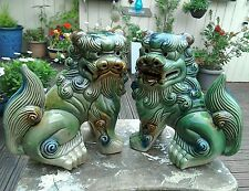 VINTAGE PAIR OF CHINESE LION DOGS