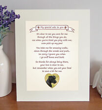 "Patterdale Terrier 10"" x 8"" 'Thank You' Poem Fun Novelty Gift FROM THE DOG"