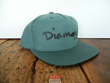 DIAMOND SUPPLY OG SCRIPT SNAPBACK CAP NEU STEALTH-GREEN DIAMOND SUPPLY CO