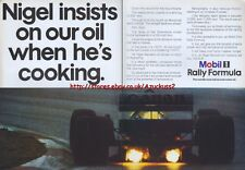 Mobil 1 Rally Formula Motor Oil 1988 Magazine Advert #2164