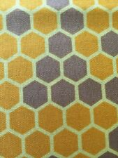 RPA695A Homeycombs Bee Keepers Bumble Honey Bee Cotton Fabric Quilt Fabric