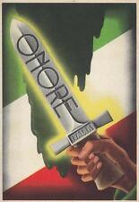 """C1912) FRANCHIGIA RSI, GLADIO CON SCRITTO """"ONORE"""". NUOVA."""