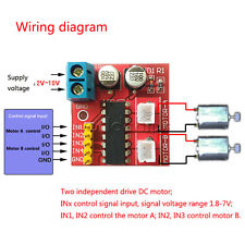 Kit 2.5A Dual Channel DC Motor Driver Mini Module Beyond L298N PWM Speed Control