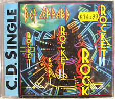DEF LEPPARD CD Rocket 1988 UK Orig. 3 TRACK / Rock Of Ages LIVE / Release Me