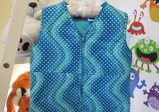 COZY TOUCH Baby Sleeping Bag 0.9 TOG BLUE ART WHITE DOTS 6-8 YEARS