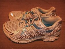 Asics Gel 1170 White Silver Blue Running Shoes Womens Size 7.5