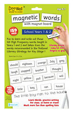 Fiesta Crafts Magnetic Words plus board KS 1 Years 1 & 2 ages 5-7 Fridge Magnets