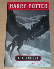 Harry Potter and the Prisoner of Azkaban J.K.Rowling 1st/1st Edition Adult P/B