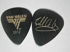 "Van Halen Eddie's ""2012 Tour"" Gold on black signature guitar pick"