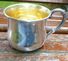 Web Sterling Silver Baby Cup #56 Engraved Margaret Ann