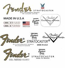 Three Assorted Strat Headstock Decals