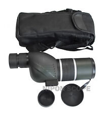 12-36x50B spotting scope with straight eyepiece. 12-36x power, twist-up eyecup