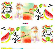 Nail Art Sticker Water Decals Transfers Decorative Art Fruit Melons Love (DC264)