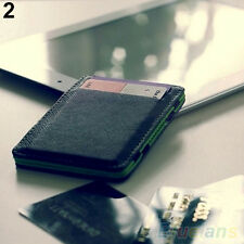 Mens Novelty Faux Leather Magic Credit Card Id Money Clip Slim Wallet Holder
